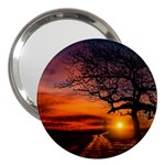 Lonely Tree Sunset Wallpaper 3  Handbag Mirrors Front