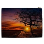 Lonely Tree Sunset Wallpaper Cosmetic Bag (XXL) Back