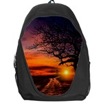 Lonely Tree Sunset Wallpaper Backpack Bag Front