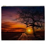 Lonely Tree Sunset Wallpaper Cosmetic Bag (XXXL) Front