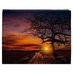 Lonely Tree Sunset Wallpaper Cosmetic Bag (XXXL) Back