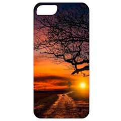 Lonely Tree Sunset Wallpaper Apple iPhone 5 Classic Hardshell Case