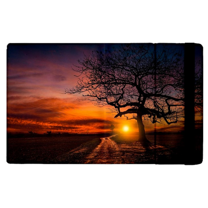 Lonely Tree Sunset Wallpaper Apple iPad 2 Flip Case