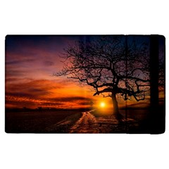 Lonely Tree Sunset Wallpaper Apple Ipad 3/4 Flip Case by Alisyart
