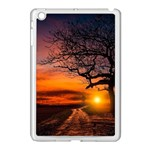 Lonely Tree Sunset Wallpaper Apple iPad Mini Case (White) Front