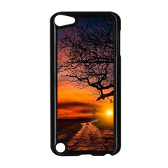 Lonely Tree Sunset Wallpaper Apple iPod Touch 5 Case (Black)