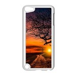 Lonely Tree Sunset Wallpaper Apple iPod Touch 5 Case (White) Front