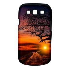 Lonely Tree Sunset Wallpaper Samsung Galaxy S Iii Classic Hardshell Case (pc+silicone) by Alisyart
