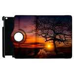 Lonely Tree Sunset Wallpaper Apple iPad 2 Flip 360 Case Front