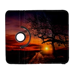Lonely Tree Sunset Wallpaper Samsung Galaxy S  Iii Flip 360 Case by Alisyart