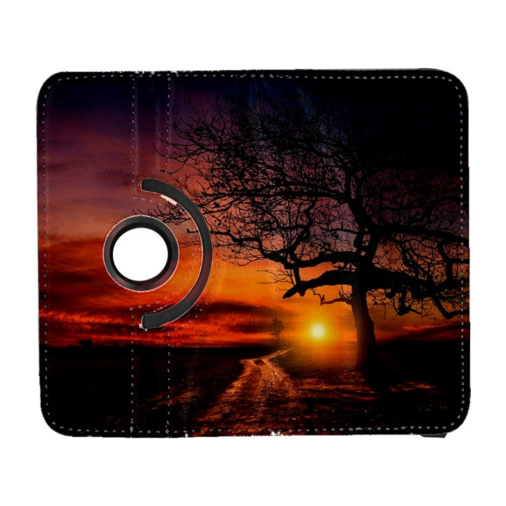 Lonely Tree Sunset Wallpaper Samsung Galaxy S  III Flip 360 Case