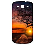 Lonely Tree Sunset Wallpaper Samsung Galaxy S3 S III Classic Hardshell Back Case Front