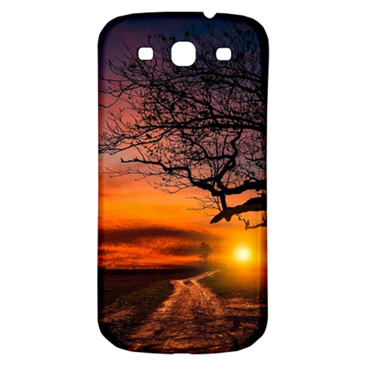 Lonely Tree Sunset Wallpaper Samsung Galaxy S3 S III Classic Hardshell Back Case