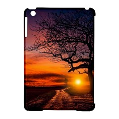 Lonely Tree Sunset Wallpaper Apple iPad Mini Hardshell Case (Compatible with Smart Cover)