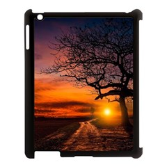 Lonely Tree Sunset Wallpaper Apple Ipad 3/4 Case (black)