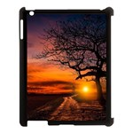 Lonely Tree Sunset Wallpaper Apple iPad 3/4 Case (Black) Front