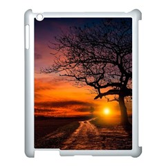 Lonely Tree Sunset Wallpaper Apple iPad 3/4 Case (White)