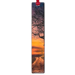 Lonely Tree Sunset Wallpaper Large Book Marks