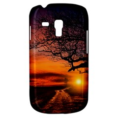 Lonely Tree Sunset Wallpaper Samsung Galaxy S3 Mini I8190 Hardshell Case by Alisyart