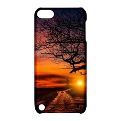Lonely Tree Sunset Wallpaper Apple iPod Touch 5 Hardshell Case with Stand
