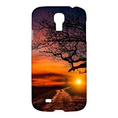Lonely Tree Sunset Wallpaper Samsung Galaxy S4 I9500/i9505 Hardshell Case by Alisyart