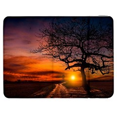 Lonely Tree Sunset Wallpaper Samsung Galaxy Tab 7  P1000 Flip Case