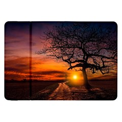 Lonely Tree Sunset Wallpaper Samsung Galaxy Tab 8.9  P7300 Flip Case