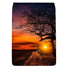 Lonely Tree Sunset Wallpaper Removable Flap Cover (L)