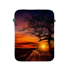 Lonely Tree Sunset Wallpaper Apple iPad 2/3/4 Protective Soft Cases