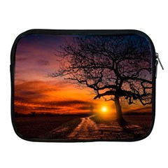 Lonely Tree Sunset Wallpaper Apple iPad 2/3/4 Zipper Cases