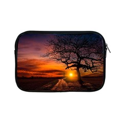 Lonely Tree Sunset Wallpaper Apple iPad Mini Zipper Cases