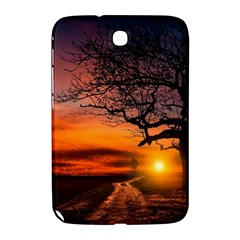 Lonely Tree Sunset Wallpaper Samsung Galaxy Note 8 0 N5100 Hardshell Case  by Alisyart