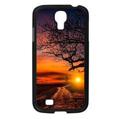 Lonely Tree Sunset Wallpaper Samsung Galaxy S4 I9500/ I9505 Case (black) by Alisyart