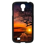 Lonely Tree Sunset Wallpaper Samsung Galaxy S4 I9500/ I9505 Case (Black) Front