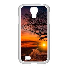 Lonely Tree Sunset Wallpaper Samsung Galaxy S4 I9500/ I9505 Case (white) by Alisyart