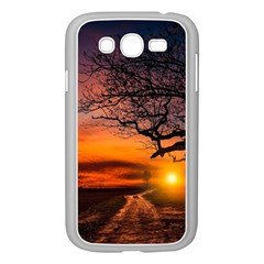 Lonely Tree Sunset Wallpaper Samsung Galaxy Grand Duos I9082 Case (white) by Alisyart