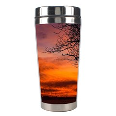 Lonely Tree Sunset Wallpaper Stainless Steel Travel Tumblers