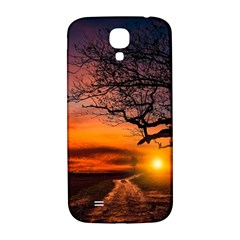 Lonely Tree Sunset Wallpaper Samsung Galaxy S4 I9500/i9505  Hardshell Back Case by Alisyart