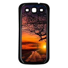 Lonely Tree Sunset Wallpaper Samsung Galaxy S3 Back Case (black) by Alisyart