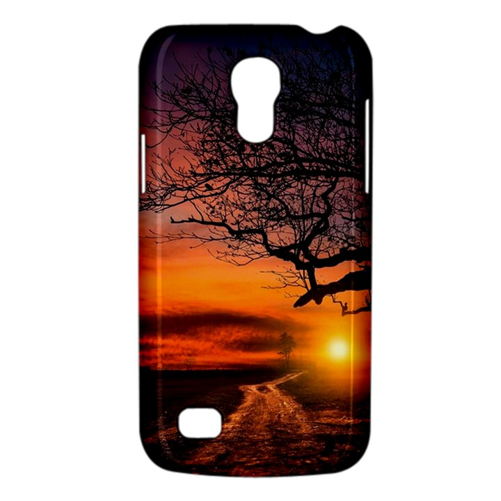 Lonely Tree Sunset Wallpaper Samsung Galaxy S4 Mini (GT-I9190) Hardshell Case
