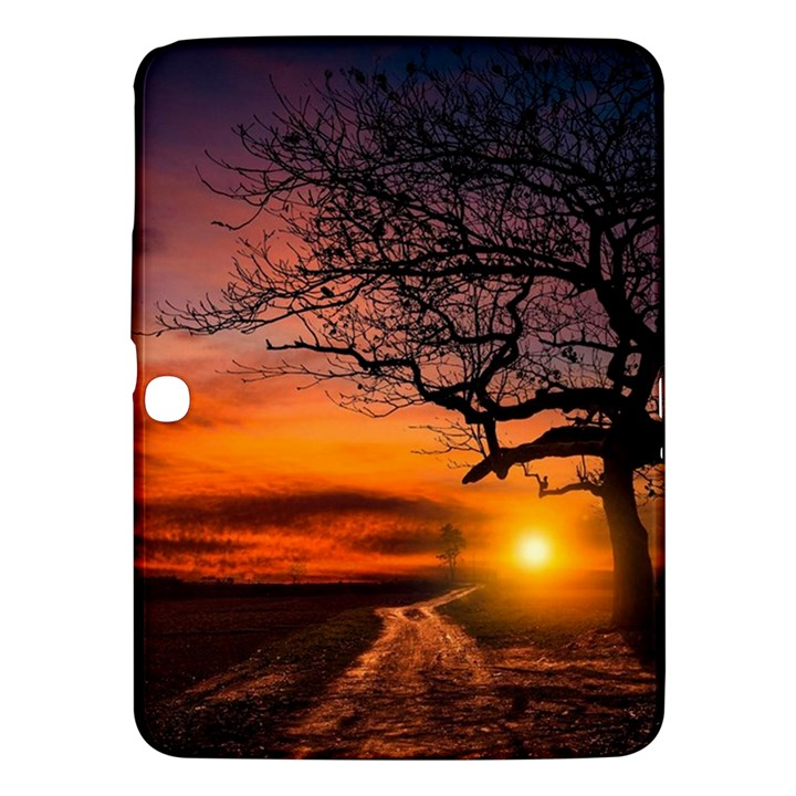 Lonely Tree Sunset Wallpaper Samsung Galaxy Tab 3 (10.1 ) P5200 Hardshell Case