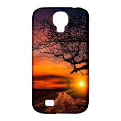 Lonely Tree Sunset Wallpaper Samsung Galaxy S4 Classic Hardshell Case (pc+silicone) by Alisyart