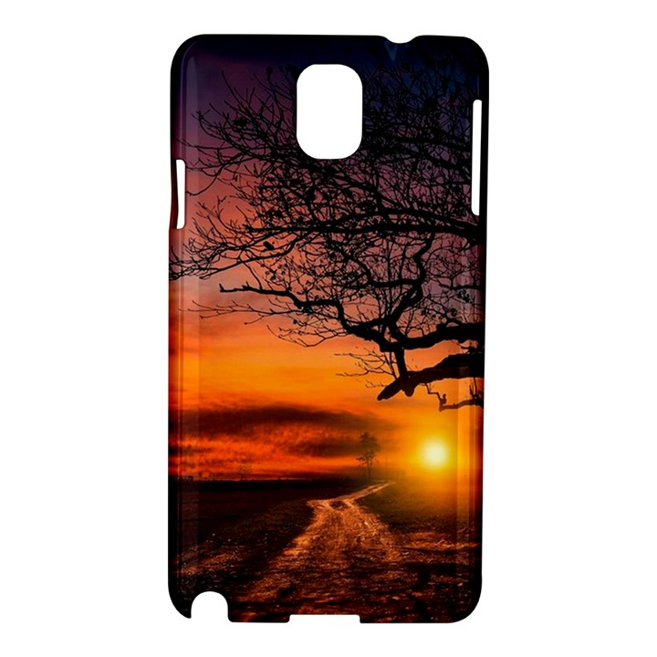 Lonely Tree Sunset Wallpaper Samsung Galaxy Note 3 N9005 Hardshell Case