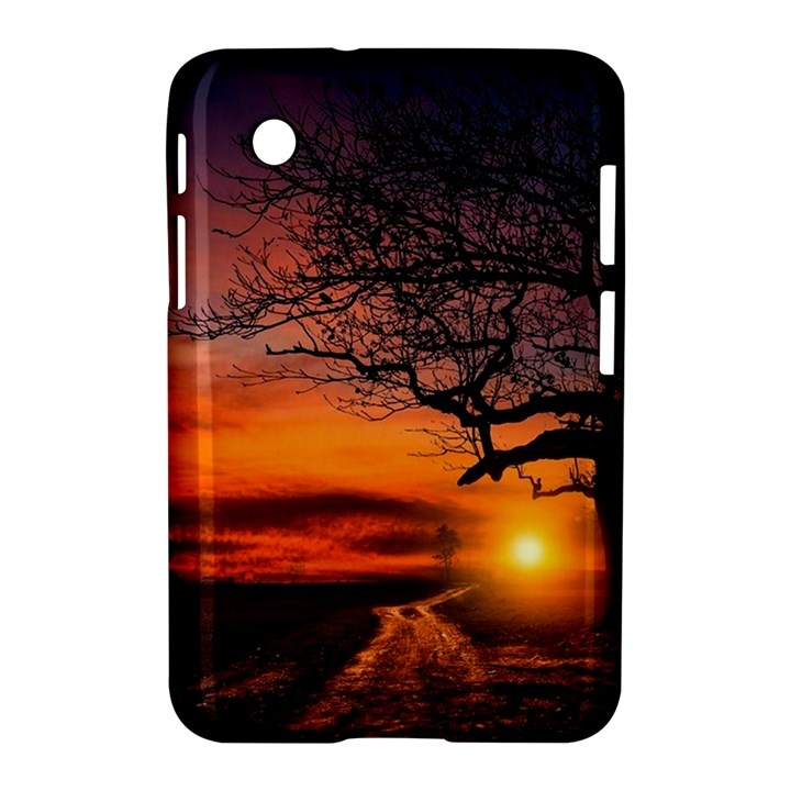 Lonely Tree Sunset Wallpaper Samsung Galaxy Tab 2 (7 ) P3100 Hardshell Case