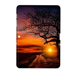 Lonely Tree Sunset Wallpaper Samsung Galaxy Tab 2 (10.1 ) P5100 Hardshell Case