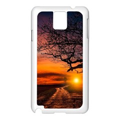 Lonely Tree Sunset Wallpaper Samsung Galaxy Note 3 N9005 Case (white) by Alisyart