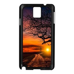 Lonely Tree Sunset Wallpaper Samsung Galaxy Note 3 N9005 Case (black) by Alisyart
