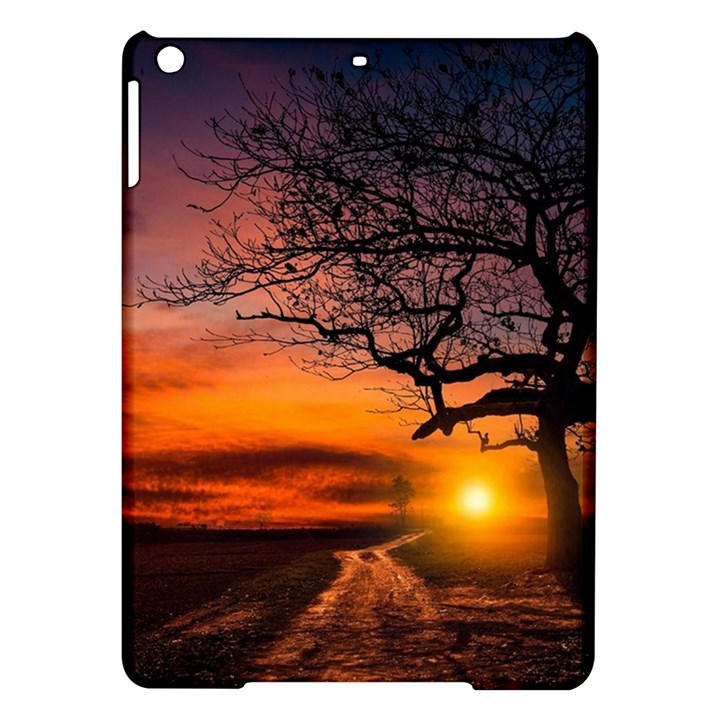 Lonely Tree Sunset Wallpaper iPad Air Hardshell Cases