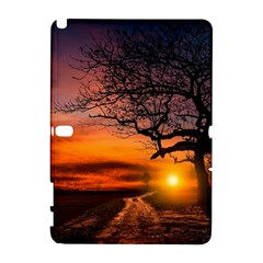 Lonely Tree Sunset Wallpaper Samsung Galaxy Note 10 1 (p600) Hardshell Case by Alisyart