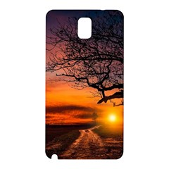 Lonely Tree Sunset Wallpaper Samsung Galaxy Note 3 N9005 Hardshell Back Case